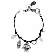 Michal Golan White And Gray Bracelet Hamsa