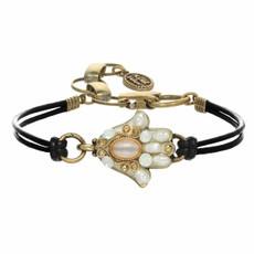 Michal Golan Small White Hamsa Bracelet