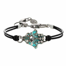 Michal Golan Small Teal Bracelet Hamsa