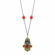 Michal Golan Multicolor Beads Hamsa