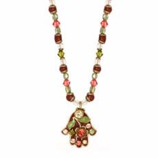 Red Michal Golan Jewelry Hamsa Necklace