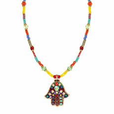Multicolor Michal Golan Jewelry Hamsa Necklace
