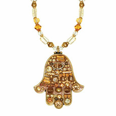Medium Beige Hamsa By Michal Golan