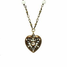 White Michal Golan Jewelry Heart Necklace