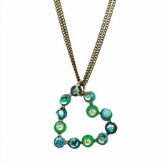Green Michal Golan Jewelry Heart Necklace