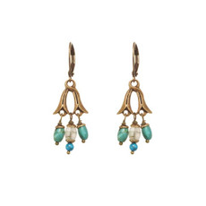 Michal Golan Nile Earrings Turquoise Color