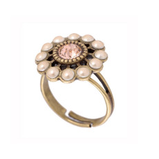 Michal Negrin Crystal Flower Ring