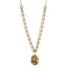 Michal Golan Jewelry Oval  Orange Necklace
