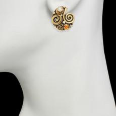 Orange Michal Golan Jewelry Half Swirl Earrings - second image