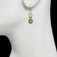 Michal Golan Jewelry Pear Pendant Leverback Orange Earrings - second image