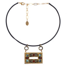Michal Golan Large Open Rectangle Necklace