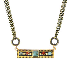 Michal Golan Necklace Sideways Bar