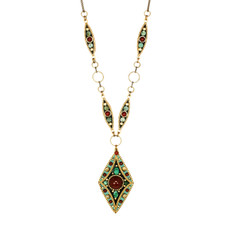 Teal Michal Golan Jewelry Diamond Pendant Necklace