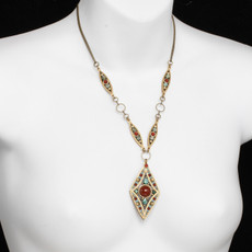 Teal Michal Golan Jewelry Diamond Pendant Necklace - second image
