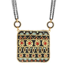 Teal Big Square necklace from Michal Golan Jewelry