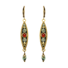Long Eye Pendant earrings from Michal Golan Jewelry