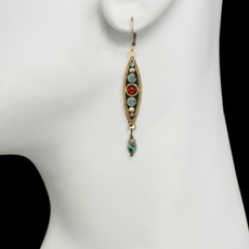 Long Eye Pendant earrings from Michal Golan Jewelry - second image