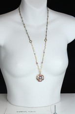 Michal Golan Jewelry Medium Round Pink Necklace - second image