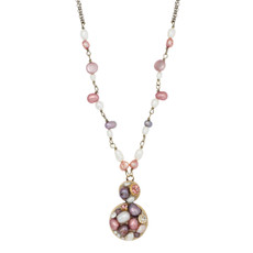 Pink Figure Eight Pendant necklace from Michal Golan Jewelry