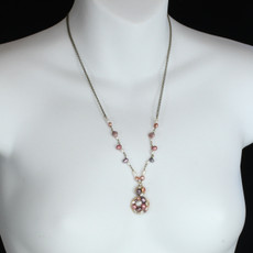 Pink Figure Eight Pendant necklace from Michal Golan Jewelry - second image