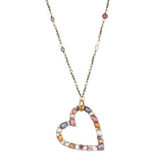 Michal Golan Constellation Open Heart Necklace