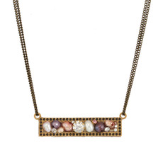 Michal Golan Jewelry Sideways Bar Necklace