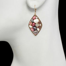 Michal Golan Constellation Pink Medium Diamond Pendant Earrings - second image