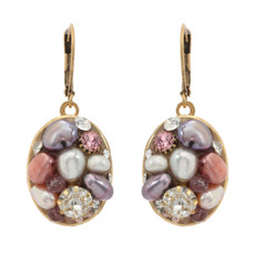 Michal Golan Jewelry Medium Oval Pink Earrings