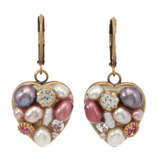 Michal Golan Small Heart Earrings