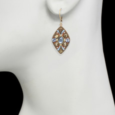 Brown Medium Diamond earrings from Michal Golan Jewelry - second image