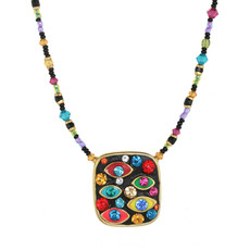 Michal Golan Evil Eye Square Multi-eye Necklace
