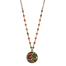 Multicolor Michal Golan Jewelry Medium Round Multi-eye Necklace