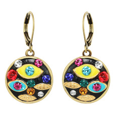 Michal Golan Evil Eye Multicolor Multi-eye Round Leverback Earrings