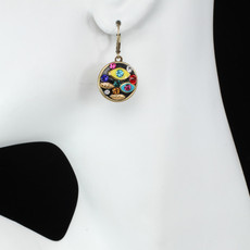 Michal Golan Evil Eye Multicolor Multi-eye Round Leverback Earrings - second image