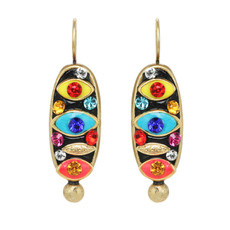 Michal Golan Jewelry Oval Multi-eye Wireback Multicolor Earrings