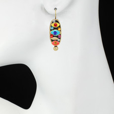 Michal Golan Jewelry Oval Multi-eye Wireback Multicolor Earrings - second image