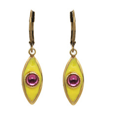 Michal Golan Jewelry Small Teardrop Yellow Earrings