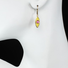 Michal Golan Jewelry Small Teardrop Yellow Earrings - second image