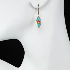 Teal Michal Golan Jewelry Teardrop Leverback Earrings - second image