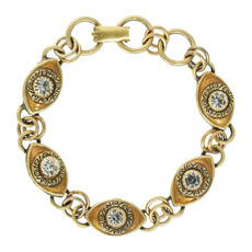 Michal Golan Evil Eye Gold Golden 5 Eye Bracelet