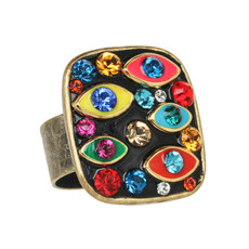 Michal Golan Evil Eye Multicolor Ring