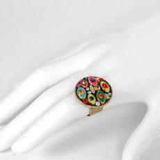 Michal Golan Jewelry Multi-eye Round Multicolor Ring - second image
