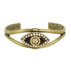 Black Michal Golan Jewelry Evil Eye Cuff Bracelet