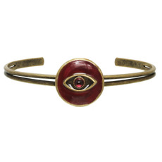 Red Michal Golan Jewelry Evil Eye Cuff Bracelet