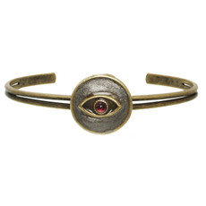 Michal Golan Evil Eye Silver Circle Evil Eye Bracelet