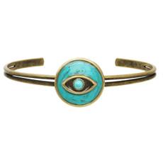 Michal Golan Jewelry Round Eye Cuff Turquoise Bracelet
