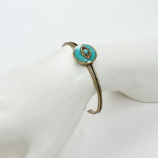 Michal Golan Jewelry Round Eye Cuff Turquoise Bracelet - second image