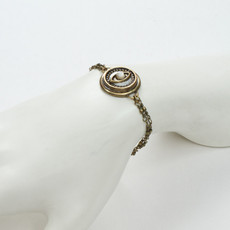 Michal Golan Evil Eye Gold Double Chain Bracelet - second image