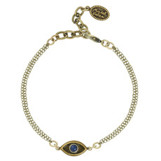 Gold Michal Golan Jewelry Evil Eye with Lapiz Center Bracelet