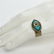 Michal Golan Ring Evil Eye with Black Center